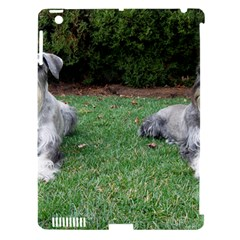 2 Standard Schnauzers Apple Ipad 3/4 Hardshell Case (compatible With Smart Cover)