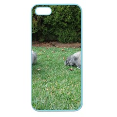 2 Standard Schnauzers Apple Seamless Iphone 5 Case (color)