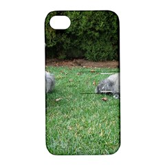 2 Standard Schnauzers Apple Iphone 4/4s Hardshell Case With Stand