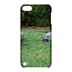 2 Standard Schnauzers Apple Ipod Touch 5 Hardshell Case With Stand
