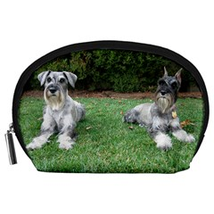 2 Standard Schnauzers Accessory Pouches (large)