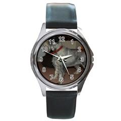 Standard Schnauzer Full Round Metal Watch