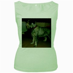 Standard Schnauzer Full Women s Green Tank Top