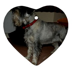 Standard Schnauzer Full Heart Ornament (two Sides)