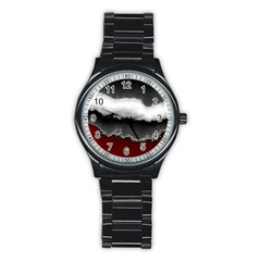 Ombre Stainless Steel Round Watch