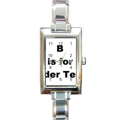 B Is For Border Terrier Rectangle Italian Charm Watch