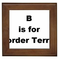 B Is For Border Terrier Framed Tiles