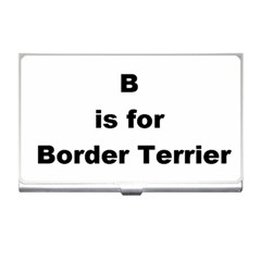 B Is For Border Terrier Business Card Holders