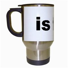 B Is For Border Terrier Travel Mugs (white)