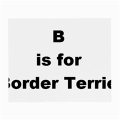B Is For Border Terrier Small Glasses Cloth