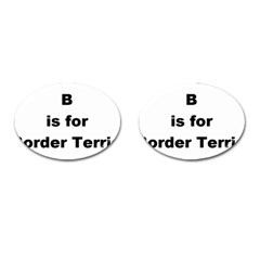 B Is For Border Terrier Cufflinks (oval)