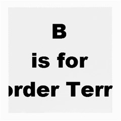 B Is For Border Terrier Medium Glasses Cloth (2 Side)