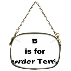 B Is For Border Terrier Chain Purses (two Sides)