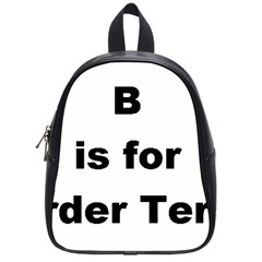 B Is For Border Terrier School Bag (small)