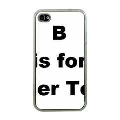 B Is For Border Terrier Apple Iphone 4 Case (clear)