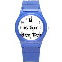 B Is For Border Terrier Round Plastic Sport Watch (s)