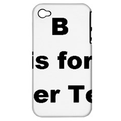 B Is For Border Terrier Apple Iphone 4/4s Hardshell Case (pc+silicone)
