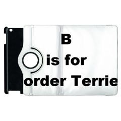 B Is For Border Terrier Apple Ipad 2 Flip 360 Case