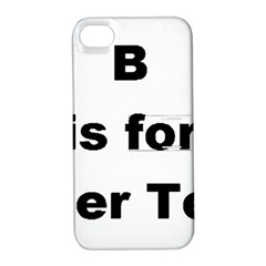 B Is For Border Terrier Apple Iphone 4/4s Hardshell Case With Stand