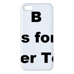 B Is For Border Terrier Apple Iphone 5 Premium Hardshell Case