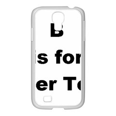 B Is For Border Terrier Samsung Galaxy S4 I9500/ I9505 Case (white)
