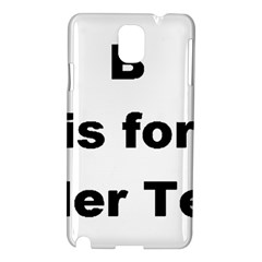 B Is For Border Terrier Samsung Galaxy Note 3 N9005 Hardshell Case