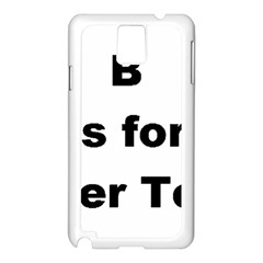 B Is For Border Terrier Samsung Galaxy Note 3 N9005 Case (white)