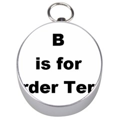 B Is For Border Terrier Silver Compasses