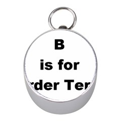 B Is For Border Terrier Mini Silver Compasses