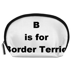 B Is For Border Terrier Accessory Pouches (large)