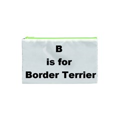 B Is For Border Terrier Cosmetic Bag (xs)