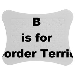 B Is For Border Terrier Jigsaw Puzzle Photo Stand (bow)