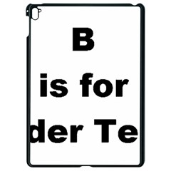 B Is For Border Terrier Apple Ipad Pro 9 7   Black Seamless Case