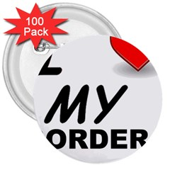 Border Terrier Love 3  Buttons (100 Pack)