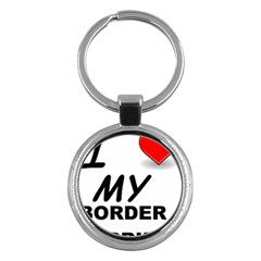 Border Terrier Love Key Chains (round)