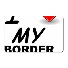 Border Terrier Love Magnet (rectangular)