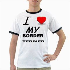 Border Terrier Love Ringer T Shirts