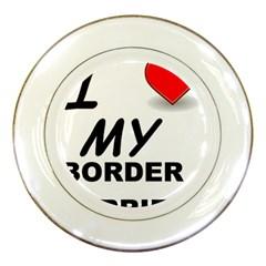 Border Terrier Love Porcelain Plates
