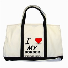 Border Terrier Love Two Tone Tote Bag
