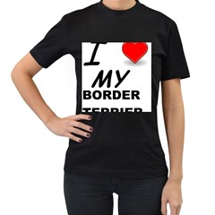 Border Terrier Love Women s T Shirt (black)