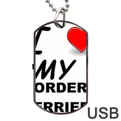 Border Terrier Love Dog Tag Usb Flash (one Side)