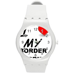 Border Terrier Love Round Plastic Sport Watch (m)