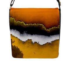 Ombre Flap Messenger Bag (l)