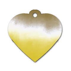 Ombre Dog Tag Heart (two Sides)