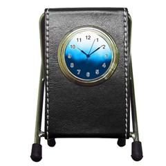 Ombre Pen Holder Desk Clocks