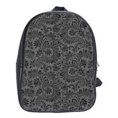 Floral Pattern School Bag (large)