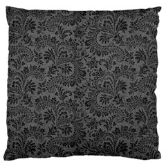 Floral Pattern Large Flano Cushion Case (one Side)
