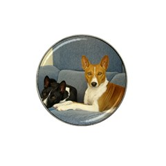 2 Basenjis Hat Clip Ball Marker (10 Pack)