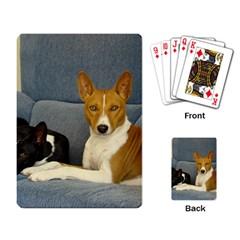 2 Basenjis Playing Card