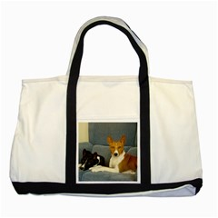 2 Basenjis Two Tone Tote Bag